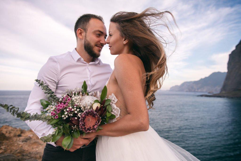 Sessão de fotos de casamento na Madeira