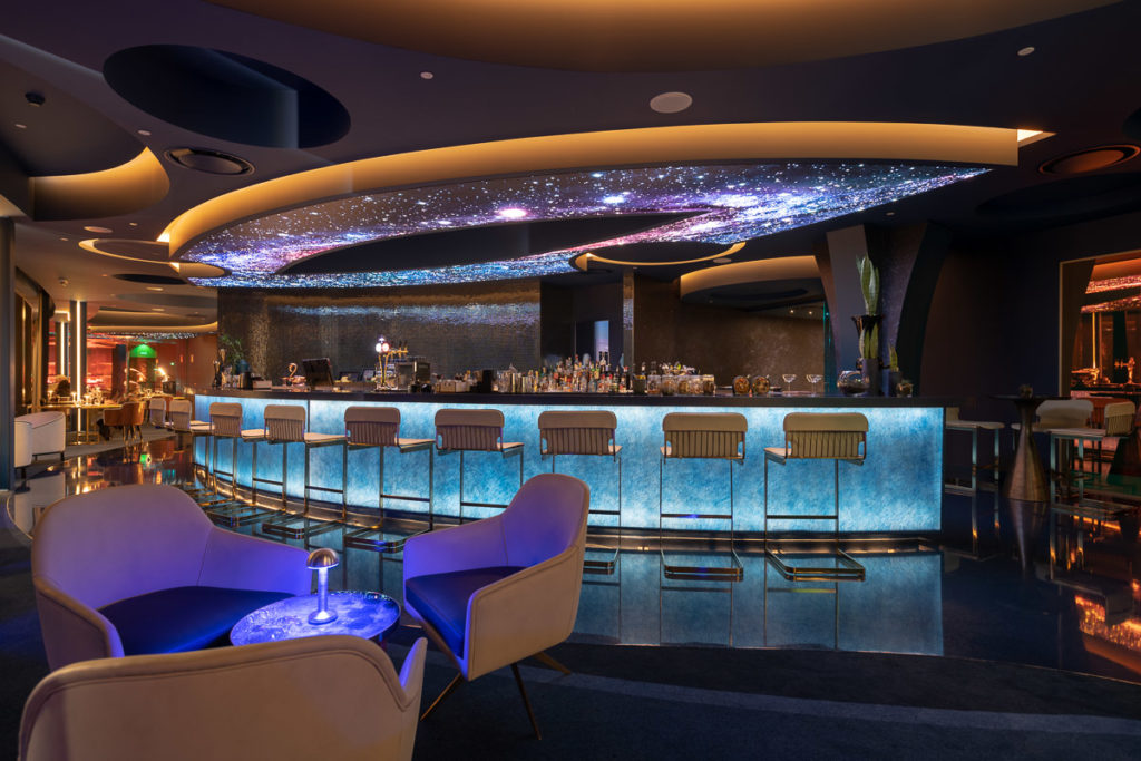 sky bar ceiling at savoy palace hotel