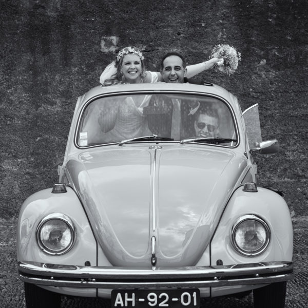 Wedding car ride in Funchal
