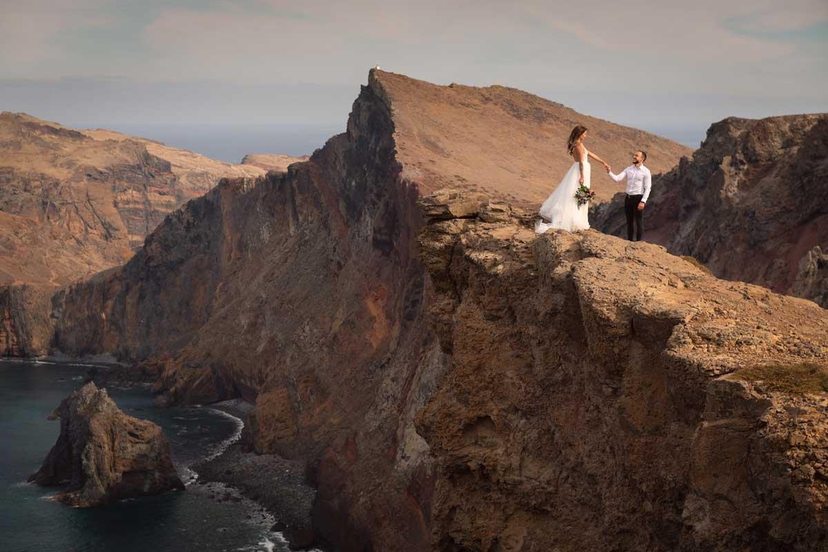 o preço de fotografia de casamento na Madeira