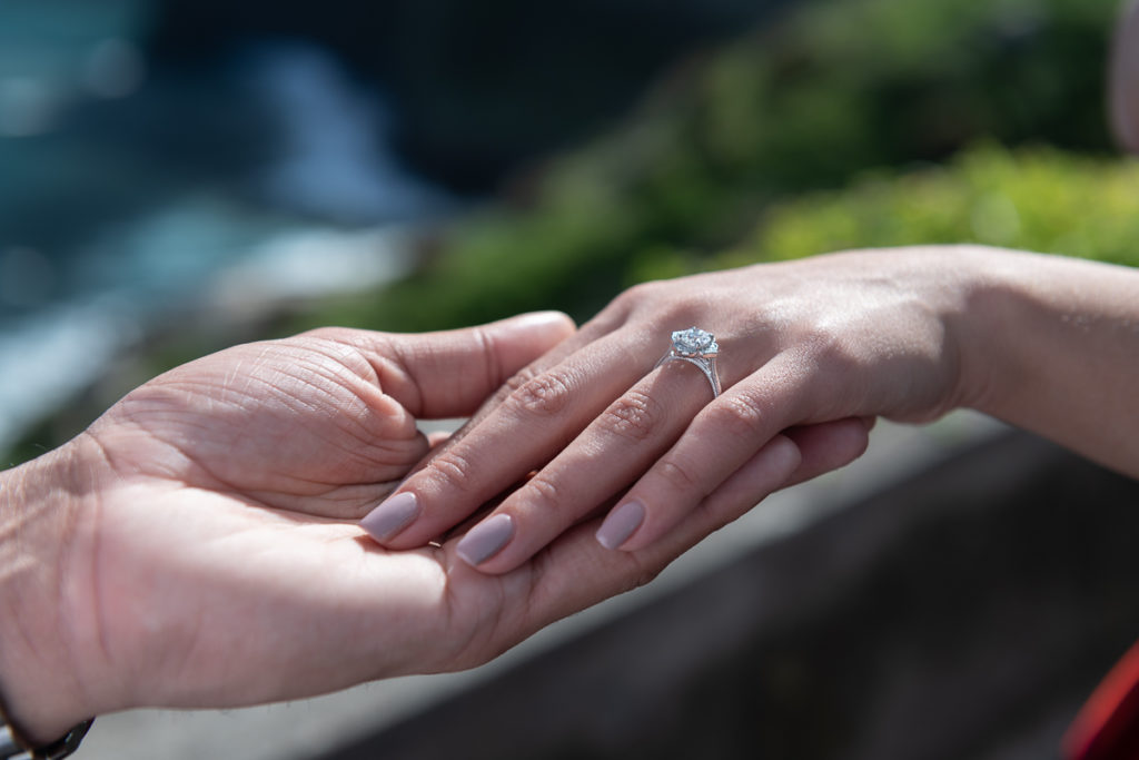 photo of wedding proposal ring in Madeira
