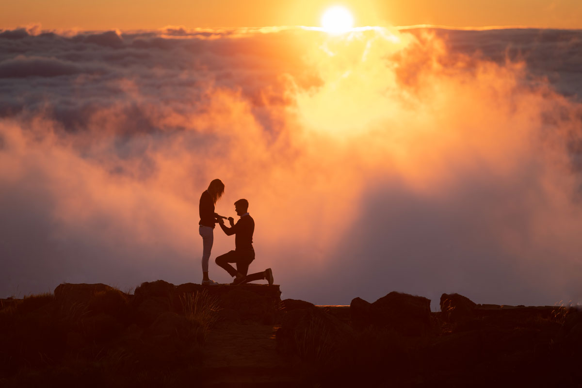 Proposal photo shoot at Arieiro Peak