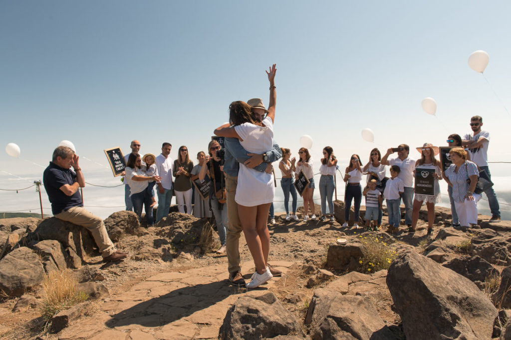 Marriage proposal at the top of Pico do Arieiro, sunrise