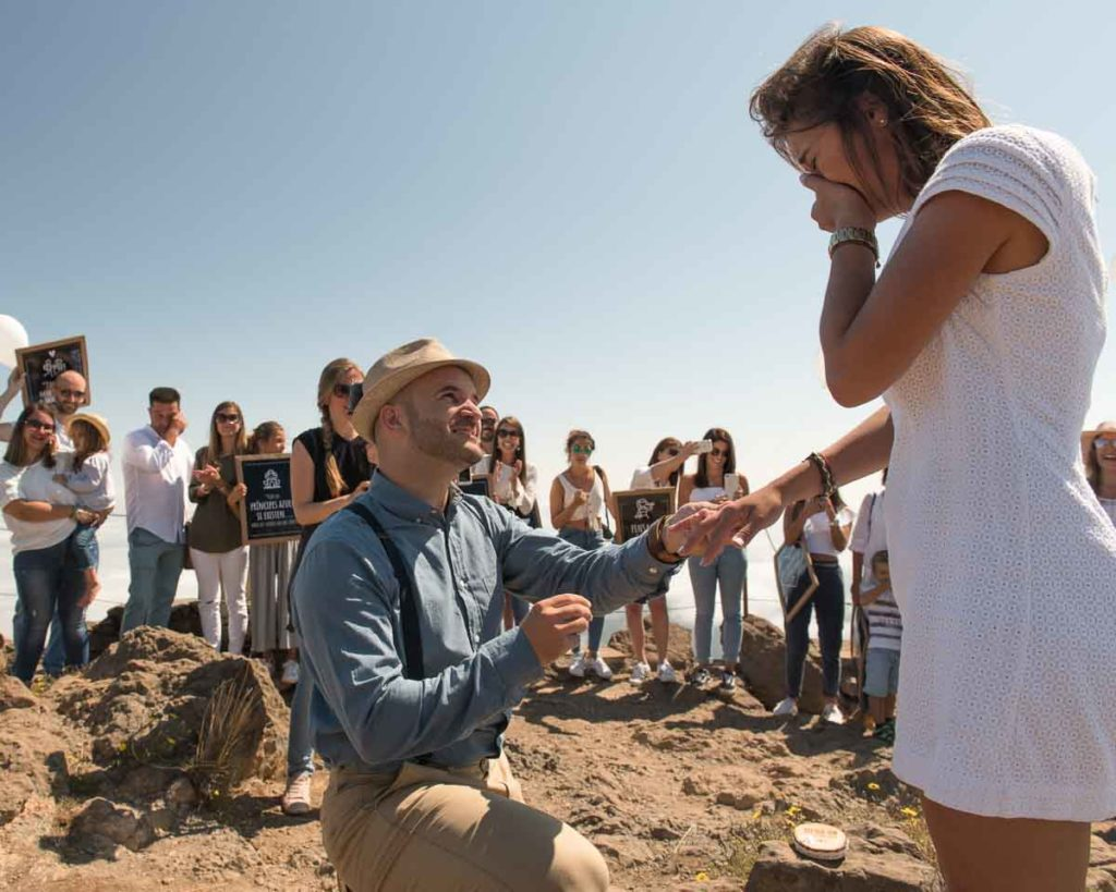 man makes a marriage proposal to his woman