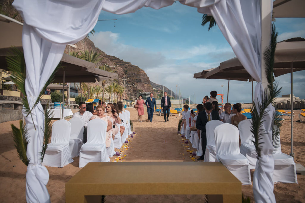 beach wedding ceremony in Madeira